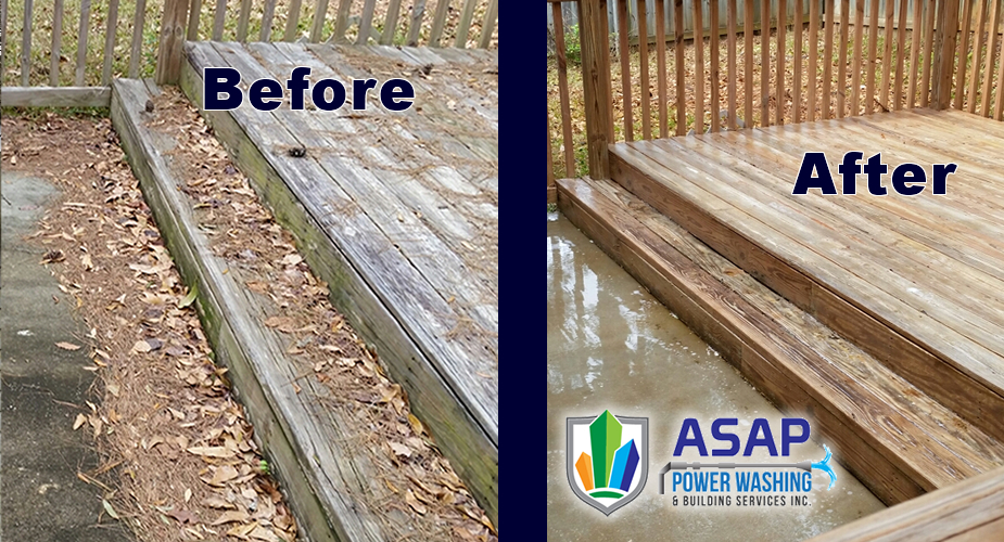 Wood Patio Cleaning / www.asappowerwashing.com